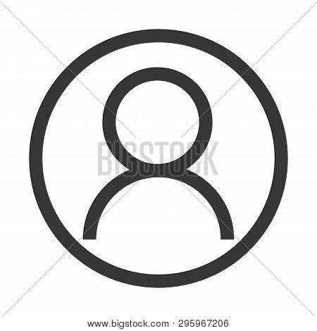 Account Icon Outline Vector Eps10. User Profile Sign Web Icon With Check Mark Glyph. User Authorized