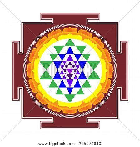 Mandala Sri Yantra Chakra Tantra Spirituality Esoteric Zen Illustration Holy  Geometry
