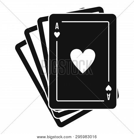 Play Fortune Cards Icon. Simple Illustration Of Play Fortune Cards Vector Icon For Web Design Isolat