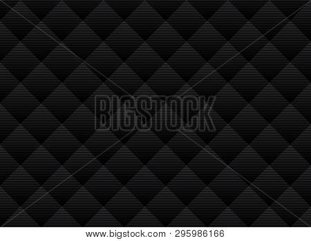 Abstract Vector Black And Gray Subtle Lattice Pattern Background. Modern Style With Monochrome Trell