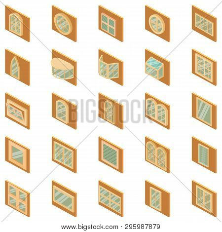 Frame Icons Set. Isometric Set Of 25 Frame Vector Icons For Web Isolated On White Background