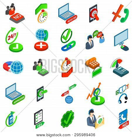 Consent Icons Set. Isometric Set Of 25 Consent Vector Icons For Web Isolated On White Background