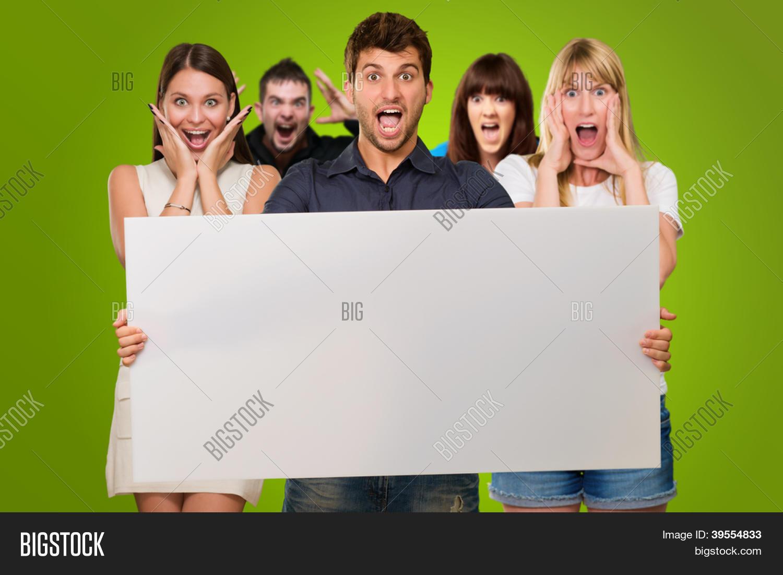 Поздравление на фото с табличкой