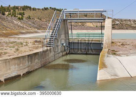 Floodgate And River Diversion In Spain. Tajo-segura, Murcia. Spain