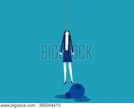 The End Business. Self Destructive Behavior. Stock Illustration
