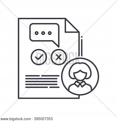 Client Complaint Icon, Linear Isolated Illustration, Thin Line Vector, Web Design Sign, Outline Conc