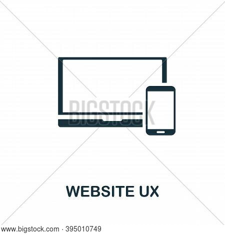Website Ux Icon. Simple Element From Website Development Collection. Filled Website Ux Icon For Temp
