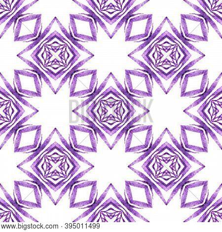 Textile Ready Optimal Print, Swimwear Fabric, Wallpaper, Wrapping.  Purple Imaginative Boho Chic Sum