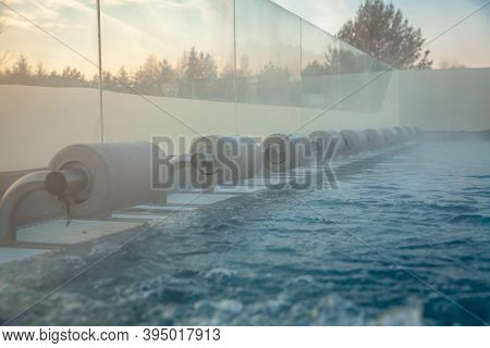 Outdoor Pool With Water Massage For Relaxation And Unwinding