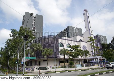 Singapore- 14 Nov, 2020: View Of The Al-khair Mosque, A Mosque In Choa Chu Kang, Singapore. It Was F