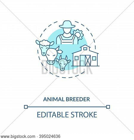 Animal Breeder Concept Icon. Top Agriculture Careers. Responsible For Helping Breed Different Pets F