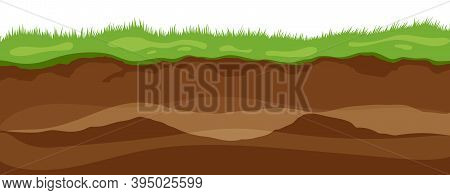 Soil Layers. Surface Horizons Upper Layer Of Earth Structure With Mixture Of Organic Matter, Mineral