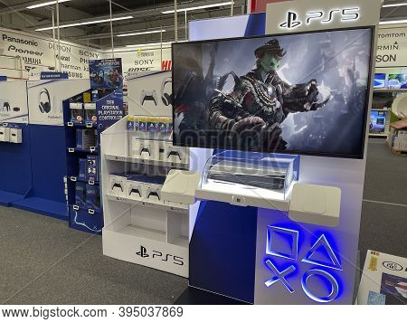 Frankfurt, Germany - 14th November 2020: A German Photographer Looking For The New Playstation 5 (ps