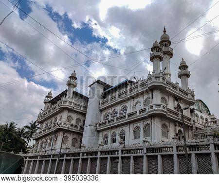 Bangalore , Karnataka / India- 2nd September 2020; Picture Of Jamia Masjid Mosque In Bangalore City