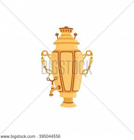 Russian Traditional Samovar For Making Hot Tea A Vector Isolated Illustration