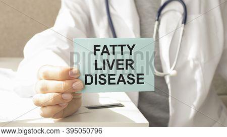 Fatty Liver Disease Doctor Holding Digital Tablet