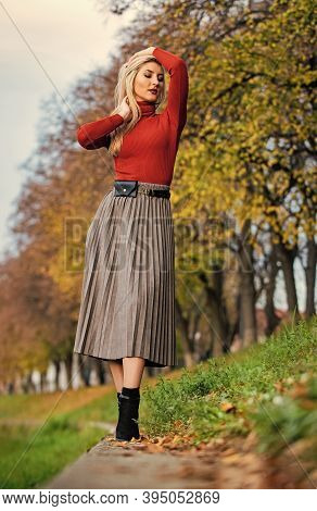 Relax While Walking. Enjoy Casual Day. Clothing Features Pleats. Must-have Skirt. Trendy Girl Wear C