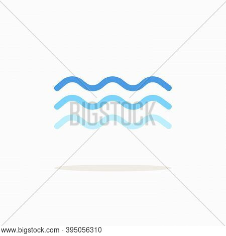 Surge. Color Icon With Shadow. Weather Glyph Vector Illustration