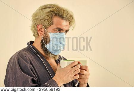 Anti-virus Mask. Masks To Protect From Virus. Man Wears Mask To Protect From Viral Infection. Man Dr
