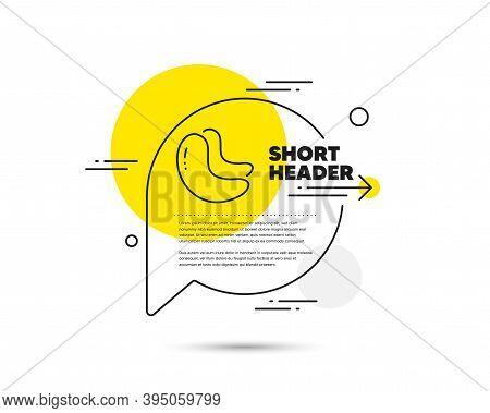 Cashew Nut Line Icon. Speech Bubble Vector Concept. Tasty Nuts Sign. Vegan Food Symbol. Cashew Nut L