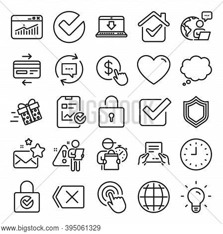 Report Document, Time Line Icons. Statistics, Gift Box And Light Bulb Icons. Credit Card, Download D