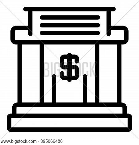 Money Holder Icon. Outline Money Holder Vector Icon For Web Design Isolated On White Background