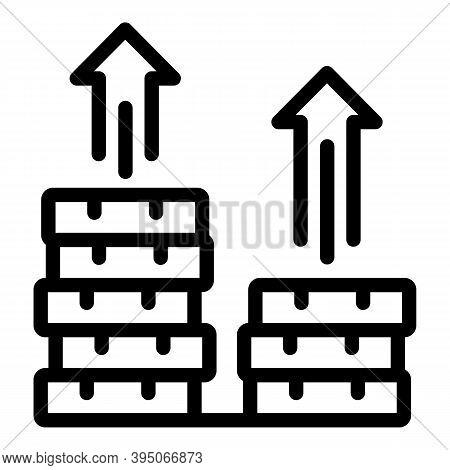Money Raise Icon. Outline Money Raise Vector Icon For Web Design Isolated On White Background