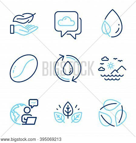 Nature Icons Set. Included Icon As Lightweight, Organic Tested, Refill Water Signs. Weather Forecast