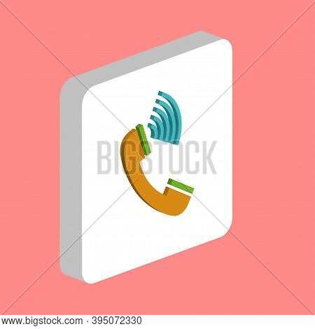 Handset Simple Vector Icon. Illustration Symbol Design Template For Web Mobile Ui Element. Perfect C