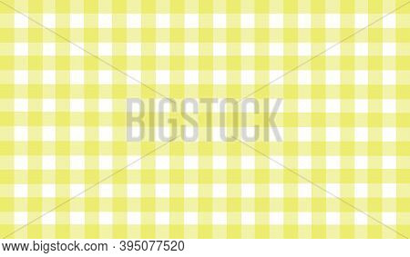 Yellow White Checkered Background. Space For Graphic Design And Creative Ideas. Checkered Texture. C