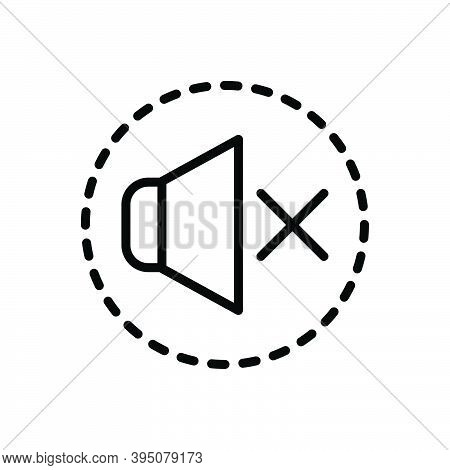 Black Line Icon For Silence Sound Mute Silent Quiet Secret Hush Keep-quiet Speaker Volume