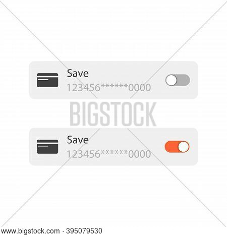 Save Credit Card. Completion Of The Operation After Money Transaction. Toggle Icon.