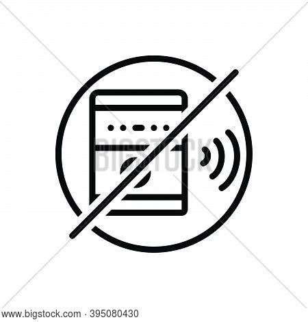 Black Line Icon For Silent Mute Silence Volume Loudspeaker Speaker Ban Prohibition Soundless Quiet