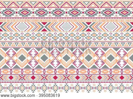 Gypsy Pattern Tribal Ethnic Motifs Geometric Vector Background. Abstract Gypsy Geometric Shapes Spri