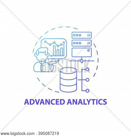 Advanced Analytics Concept Icon. Digital Consulting Component Idea Thin Line Illustration. Creating