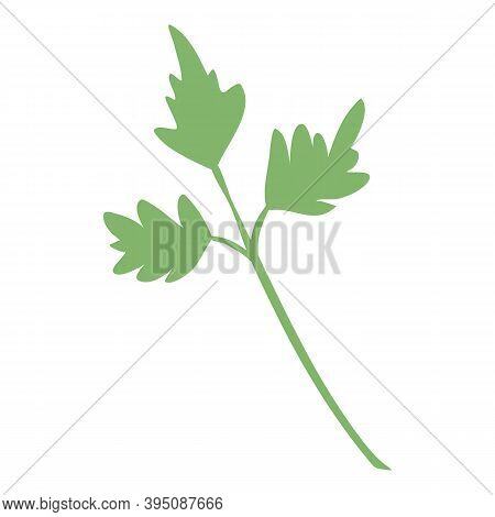 Farm Parsley Icon. Cartoon And Flat Of Farm Parsley Vector Icon For Web Design Isolated On White Bac