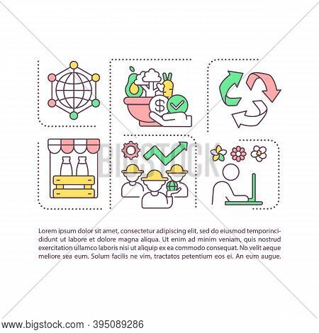 Agribusiness Components Concept Icon With Text. Crop Production And Farming. Distribution. Ppt Page