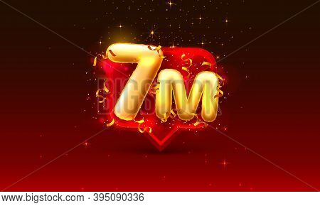 Thank You Followers Peoples, 7m Online Social Group, Happy Banner Celebrate, Vector