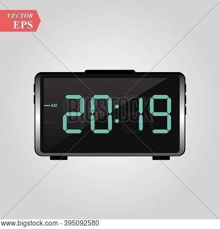 2019 Digits - Symbol Of New Year In Led Digital Display Of Alarm Clock - Vector Illustration For New