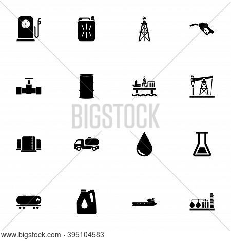 Oil Icon - Expand To Any Size - Change To Any Colour. Perfect Flat Vector Contains Such Icons As Gas
