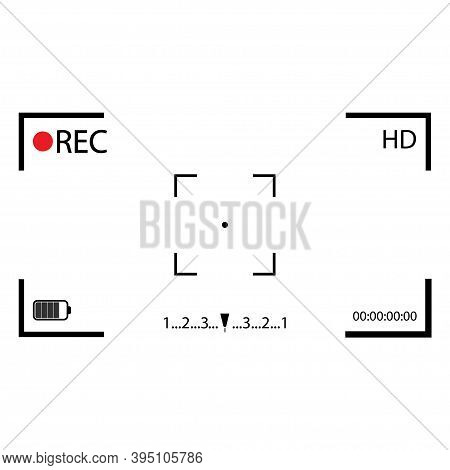 Camera Frame Viewfinder On White Background. Vector Isolated Illustration.camera Viewfinder