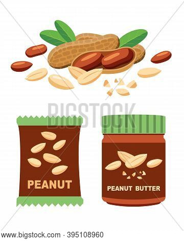 Peanuts And Products, Pasta And Nuts In Packaging