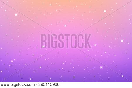 Space Background. Color Cosmos Texture. Violet Starry Cosmos. Colorful Milky Way. Cosmic Poster With