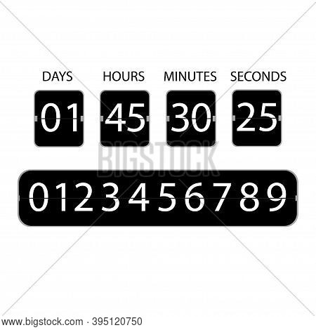 Countdown Clock Icon. Digital Clock Illustration On White Backdrop.counter Timer.