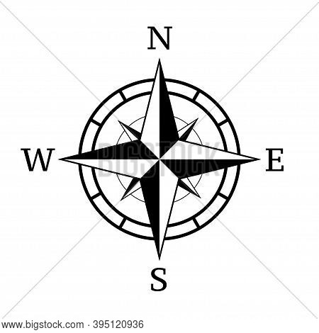 Vintage Compass Icon.vector Illustration.compass Navigation Illustration.rose Icon.