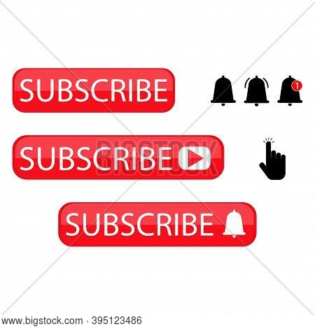 Subscribe Icon For Web Design. Notification Bell Icon.