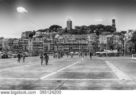 Cannes, France - August 15: View Over Le Suquet District In Cannes, Cote D'azur, France, As Seen On