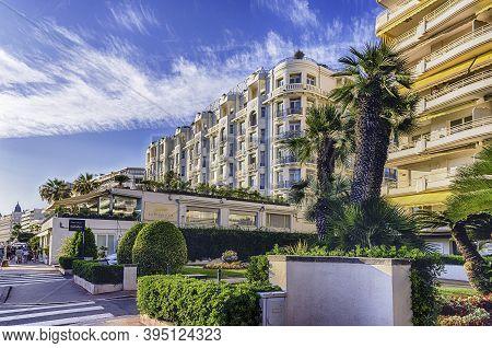 Cannes, France - August 15: The World-famous Promenade De La Croisette, Cannes, France, On August 15