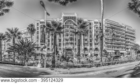 Cannes, France - August 15: Facade Of Relais De La Reine In Cannes, Cote D'azur, France, As Seen On