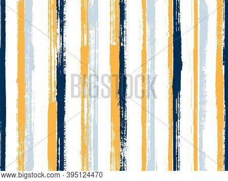 Ink Handdrawn Rough Stripes Vector Seamless Pattern. Stylish Gift Wrapping Paper Design. Old Style T